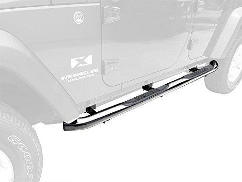 """Tyger Custom Fit 2007-2015 Jeep Wrangler 4 Door 3"""" Side Armor Step Nerf Bars Stainless Steel Running Boards"""