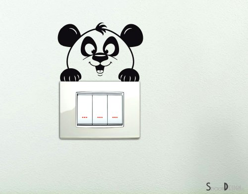 Casanet splendido orologio da parete russuoso con i numeri for Orologio stickers