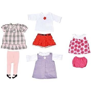 Lot De 4 Tenues Pour Poupée Fille, N°2. Vêtements Pour Des Poupées De 41 Cm