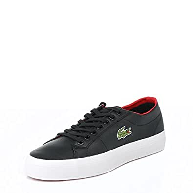 .com: Lacoste Mens Black Chunky Marcel Trainers-UK 10: Lacoste: Shoes