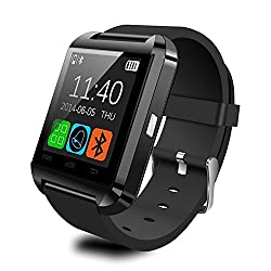 GOLDSTAR Bluetooth 3.0 Smartwatch 1.56 Inch Touch Screen Support SIM Card & TF Digital Android Smart Watch Men Women Sport Wristwatch for HTC/Sony/Samsung/LG/Moto Smart Phone by GOLDSTAR