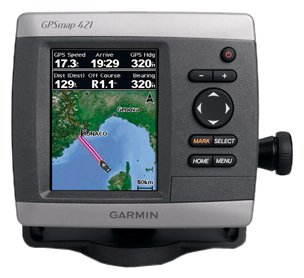 Garmin GPSMAP 421s 4-Inch Waterproof Marine GPS and Chartplotter with Sounder