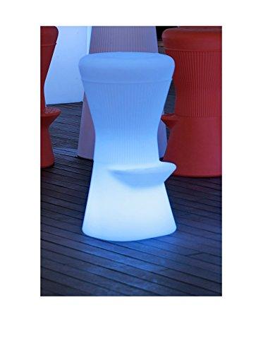 Artkalia Biarritz Wireless LED Stool, White Opaque