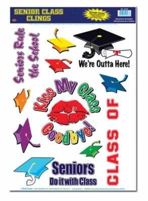 Senior Class Clings 12in. x 17in. Sh, 11/Sh, Pkg/12 - 1