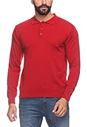 Raymond Men's Woolen Sweater (8907252515202_RMWX00369-R4_39_Red)
