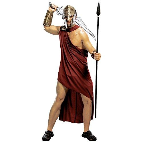 [GSG Spartan Costume Adult 300 Greek Warrior Halloween Fancy Dress] (Spartan 300 Halloween Costumes)