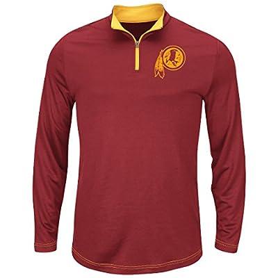 "Washington Redskins Majestic ""Ready"" Men's 1/4 Zip Therma Base Pullover Shirt"