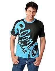 Attabouy Pahadi Babaji Mens Cotton T-shirt-Blue