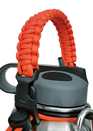 Paracord Handle for Hydro Flask, Unique Security Design, Fits Hydro Flask, Nalgene Most Wide Mouth Water Bottles, Camping Outdoor Sports Water Bottle Carrier Holder (orange) (Le Water Filter compare prices)