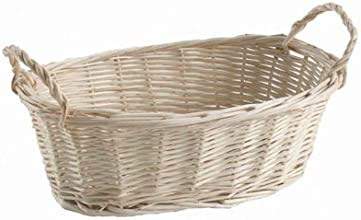 Bulk Buy Darice DIY Crafts Natural Willow Wood Tray Basket with Handles 5 x 8 x 3 inches 24-Pack 283