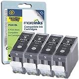 4 Cartouches d'encre Compatibles pour Imprimante Canon Pixma MP610 - Noir- Avec Puce