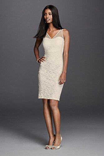 Short Illusion Lace Wedding Dress