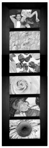 Malden International Designs Berkeley Beveled Edge Wood Collage Picture Frame, 6 Option, 6-4x6, Black
