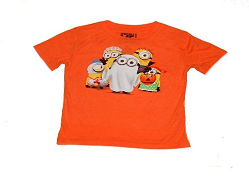 Despicable Me - Trick or Treat Halloween Minion Tee for Toddlers (18 Months) - Orange
