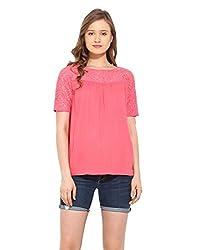 Saiesta Women's Coral Lace Boho Top