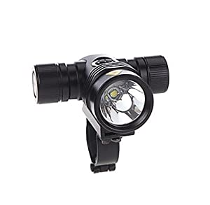 Cree Xml-t6 Led Clamp Bicycle Bike Light 1000lm 5 Modes 18650 Aluminum Alloy