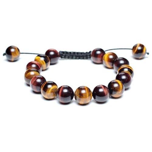 Bling Jewelry Shamballa Bracelet Unisex Tiger Eye Round Beads 12mm [Jewelry]