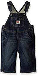Levi\'s Baby Boys Knit Denim Overall with Snappy Tape, Inky Shades, 24 Months