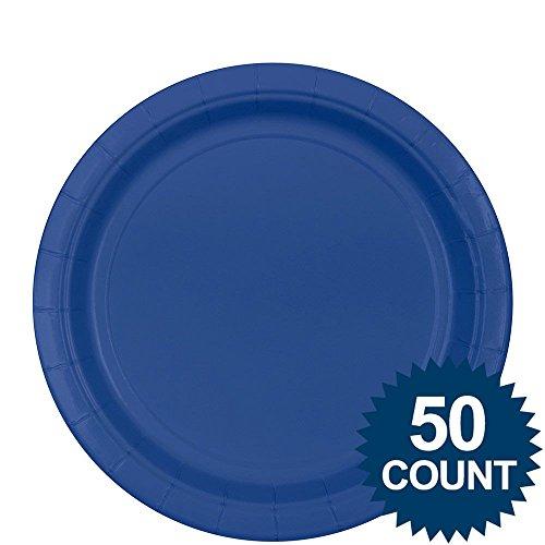 "Amscan 650013-105 Big Party - Pack Paper Dinner Plates 9"" 60/Pkg"