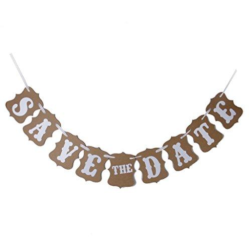 SAVE THE DATE Guirlande Bannière Banderole Décoration pour Cérémonie Mariage - Kaki