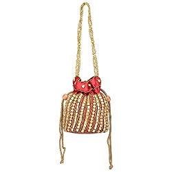 Lazaaro International LZ018 Potli Handbag (MAROON)