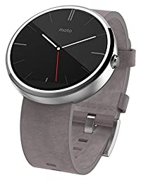 Motorola Moto 360 Smart Watch, Stone Gray Leather