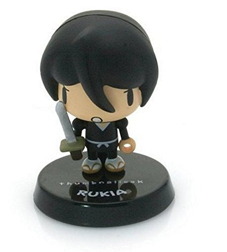 "Rukia (Angry) ~1.5"" mini-figure with weapon charm (+ ~0.25"" stand) [Bleach Thumbnaillook Series] (Japanese Imported) - 1"
