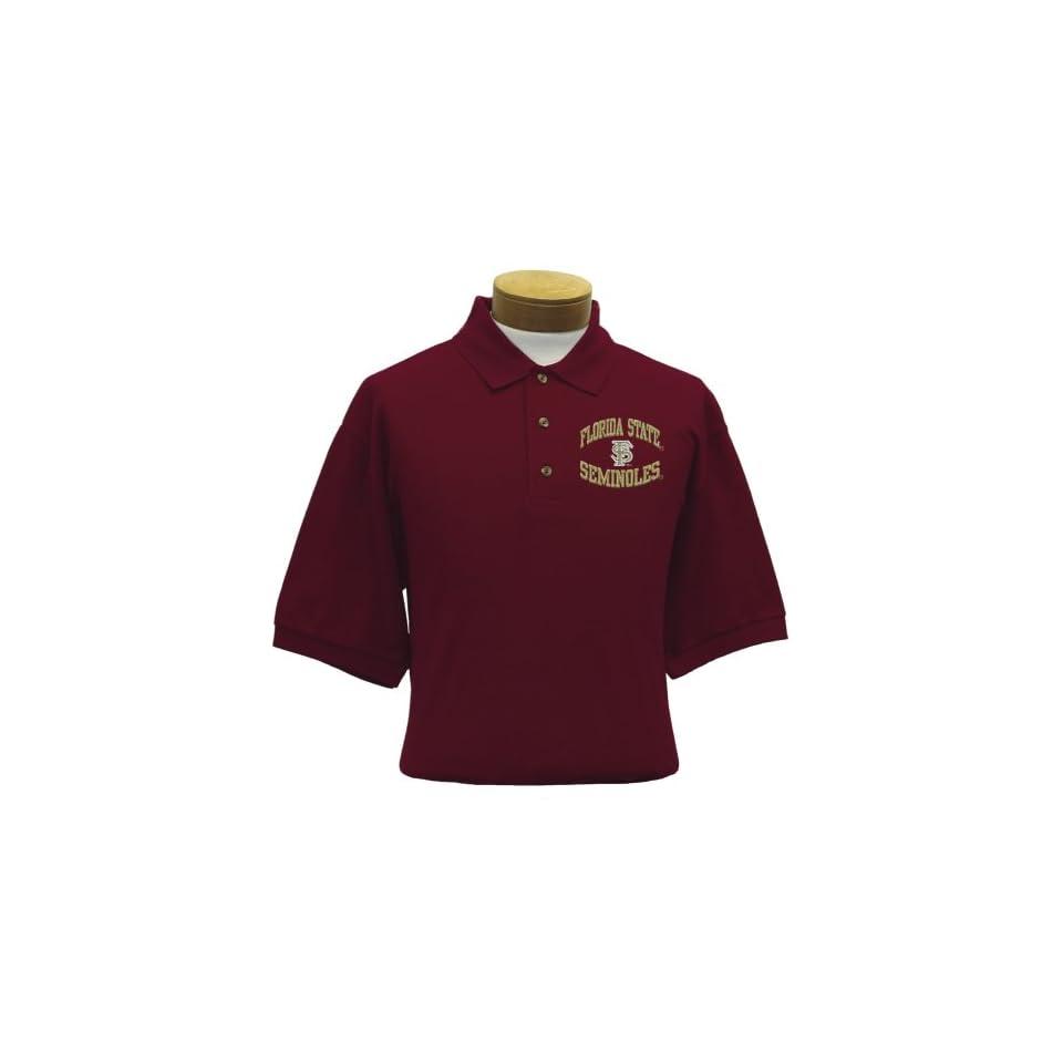 Florida State Mens Embroidered Pique Polo Shirt (Medium)