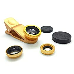 Aeoss Universal 3 in 1 clip on Cell Phone Camera Lens Kit - Fish Eye Lens / 2 in 1 Macro Lens & Wide Angle Lens