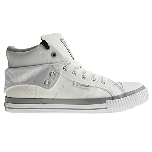 British Knights BK Sneaker ROCO B33-3730 White LT Grey Grau, Größe:40 EU / 6.5 UK / 7.5 US