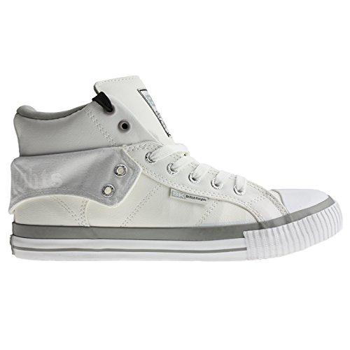British Knights BK Sneaker ROCO B33-3730 White LT Grey Grau, Größe:41 EU / 7 UK / 8.5 US
