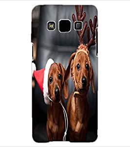 ColourCraft Cute Funny Dogs Design Back Case Cover for SAMSUNG GALAXY A3