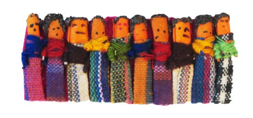 Worry Doll Barrette with Small Dolls - 1
