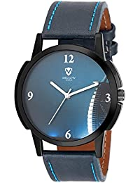 Latest Designer Fashionable Blue Leather Belt Watch Round Blue Dial Watch Casual / Formal / Party Wear Watches...