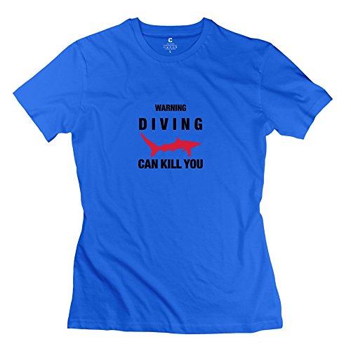 Zhitian Women'S Can Kill Diving T-Shirt - Xl Royalblue