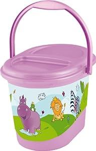 OKT Kids 1180150901200 - Contenedor para pañales, diseño de hipopótamo, color morado marca OKT Kids - Bebe Hogar