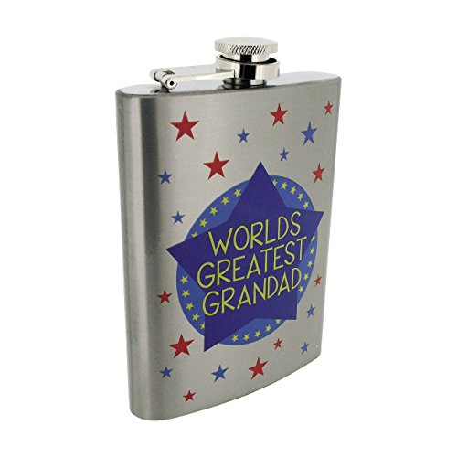 N. 1 Dad 8oz Fiaschetta in acciaio inox in confezione regalo da The Leonardo Collection