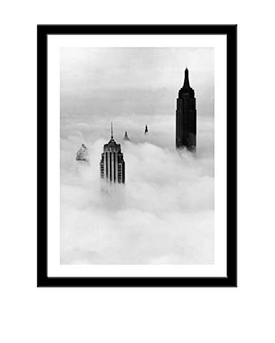 Photos.com by Getty Images New York's Skyscrapers In The Mist In 1954 Artwork On Framed Paper