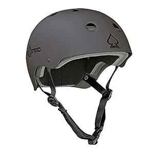 Pro-Tec Classic Skate Matte Charcoal Skate Helmets Large Grey