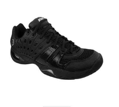 Prince Men's T22 Tennis Shoe (12, Black/Black)