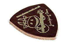 Brown 'Jumping Cow' Leather Plectrum/Pick for Ukulele, Banjo etc