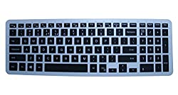 kmltail Soft Silicone Keyboard Cover Protector Skin forDell Inspiron 3543 Touchscreen 15.6 inch Laptop (Semi-Black)