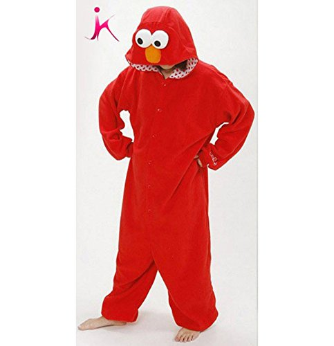 Red Elmo Cookie Monster Mikuhatsune Cosplay Halloween Fancy Costume Adult