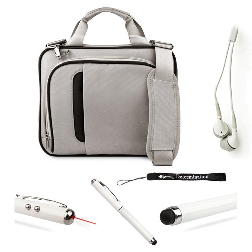 Mobile Carry On Active Travelling Style Bag With Adjustable Shoulder Strap // For Motorola 10.1-Inch Tablet + Hd Earbuds (3.5Mm Jack) + Stylus Pen