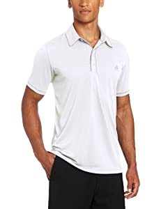 Adidas Golf Men's Climalite Piped Solid Jersey Polo, White/Chrome, XX-Large
