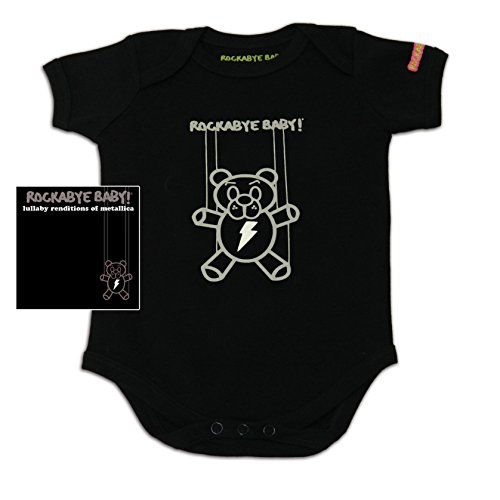 Rockabye Baby! Lullaby Renditions of Metallica + Organic Baby Bodysuit (Album Art)