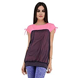 Terquois Georgette Top(676_Pink_XL)