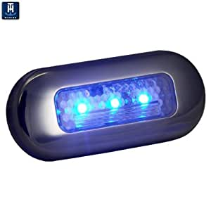 Th Marine Led 51823 Dp Oblong Courtesy Light Stainless Steel Blue Boating