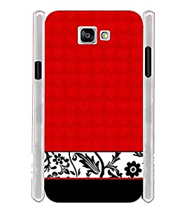 Red Floral Chek Soft Silicon Rubberized Back Case Cover for Samsung Galaxy A5 2016 Edition