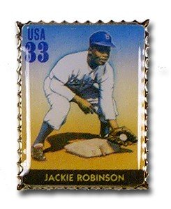 amazoncom jackie robinson stamp pin sports related pins sports outdoors
